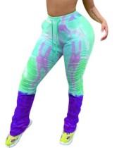 Pantalones de chándal con cordones con efecto tie dye