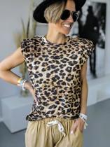 Summer Leopard O-Neck Shirt