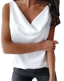 Sexy Dripped Sleeveless Plain Shirt