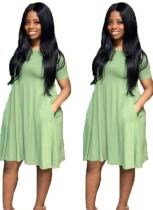 Summer Sheer O-Neck Shirt Kleid