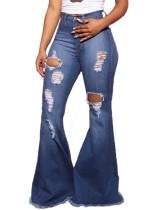 Расклешенные расклешенные джинсы с высокой талией