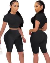 Conjunto de top y pantalones cortos transparentes sexy