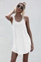 Summer Sheer High Low Tank Kleid