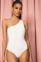 Einfarbiger Sexy Body mit einer Schulter