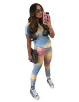 Conjunto de pantalones de ocio de dos piezas Summer Dye Tie