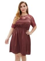 Plus Size Summer Lace Upper Skater Kleid