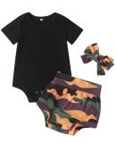 Baby Mädchen Sommer dreiteilige Shorts Set