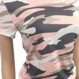 Conjunto de pantalones cortos de ocio de dos piezas con estampado de camuflaje de verano