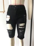Sexy schwarze Taillenshorts mit hoher Taille