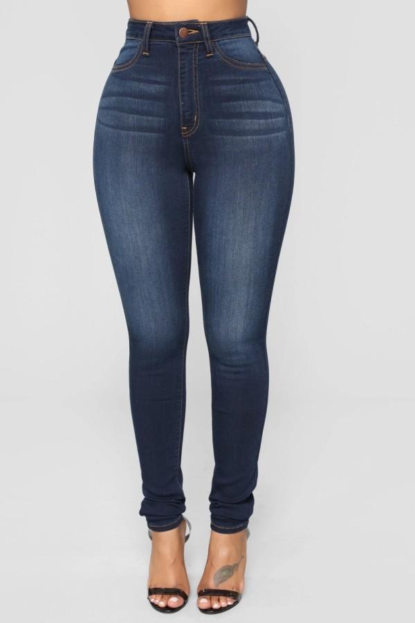 Sexy High Waist Tight Einfache Jeans