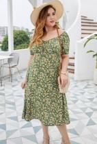 Vestido largo elegante floral largo de verano