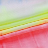 Tie Dye Langarm Crop Top