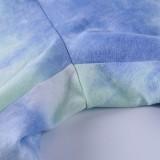 Conjunto de pantalones cortos de ocio de dos piezas Summer Dye Tie