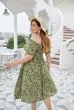 Plus Size Summer Floral Langes elegantes Kleid