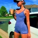 Summer Sports Fitness Straps Mamelucos cortos