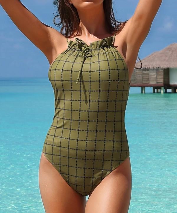 Einteilige Halfter-Badebekleidung