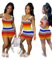 Сексуальные разноцветные повседневные комбинезоны без рукавов