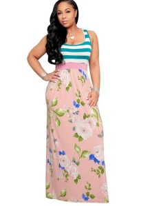 Summer Sleeveless Floral Long Dress