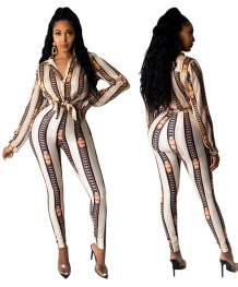 Matching Two Piece Print African Pants Set