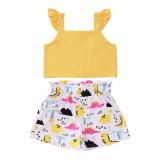 Kinder Mädchen Sommer Flora Print zweiteilige Shorts Set