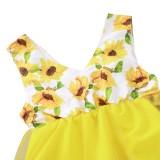 Baby Mädchen Sommer Blumen Geburtstagskleid