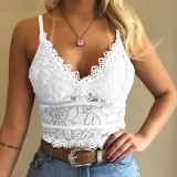 Spitzenriemen Crop Top