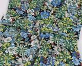 Sommer Vintage Blumenhalfter Halskleid