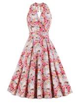Robe de bal licou vintage à fleurs d'été