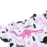 Kinder Mädchen Sommer Animal Print Kleid