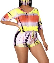 Summer Tie Dye Zweiteiliges Shorts-Set