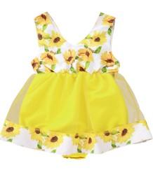 女の赤ちゃんの夏の花の誕生日ドレス