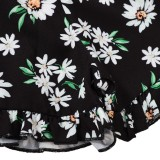 Kinder Mädchen Sommer Blumen zweiteilige Shorts Set