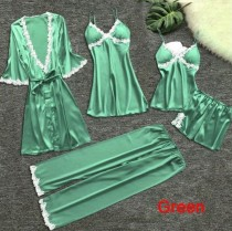 Sexy Satin 5 Piece Set Sleepwear