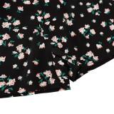 Conjunto de pantalones cortos de dos piezas florales de verano para niña