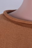 Einfarbig Herbst zweiteilige passende Shorts Pyjama Set