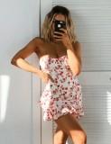 Sexy trägerloses Blumen-Meerjungfrau-Partykleid
