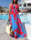 Sommerblumenhalfter Langes Flitterwochen-Kleid