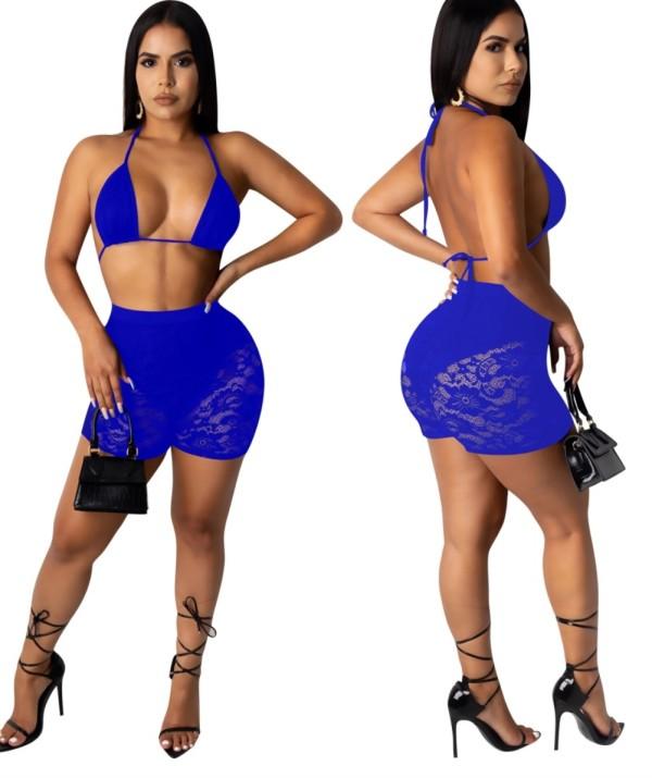 Sexy Spitze BH und Shorts Set