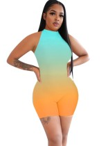 Sexy Sleeveless Gradient Bodycon Rompers