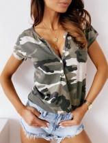 Sommer Camou Print Basic Shirt