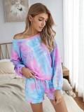 Conjunto de pijama de dos piezas Autumn Tie Dye Shorts