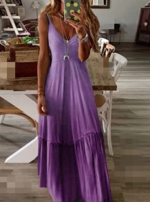 Sommer Flitterwochen Gradient Strap Long Dress