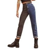 Western Blue Sytlish Regular Straight Jeans