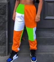 Pantalon de survêtement contrasté Street Style