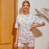 Summer Camou Shorts de dos piezas Traje de ocio