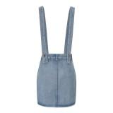 Western Blue Suspender Jeansrock