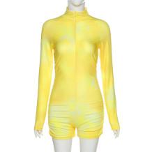 Summer Fitness Langarm Tie Dye Stacked Strampler