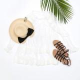 Vestido de malla transparente de verano blanco
