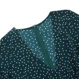 Summer Green Dotty Strampler mit V-Ausschnitt und weiten Ärmeln