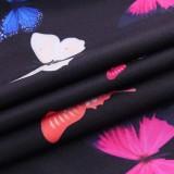 Schwarzes Schmetterling Sexy Tube Kleid
